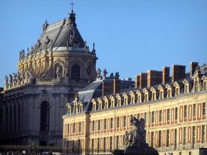 Palace of Versailles - Royal chapel and facade of the castle