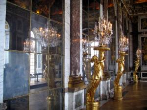 Palace of Versailles - Inside of the castle: Mirrors gallery (Glaces gallery)