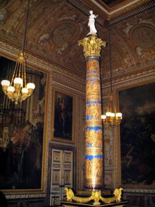 Palace of Versailles - Inside of the castle: column of the Coronation room (Sacre room)