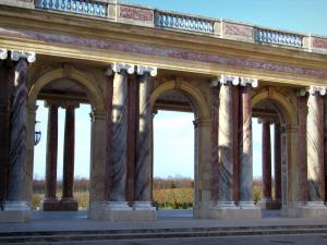 Park of the Palace of Versailles - Columns and arches of the Grand Trianon