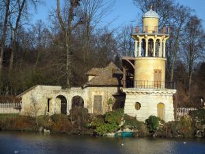 Park of the Palace of Versailles - Queen's hamlet: Marlborough tower and Grand lake