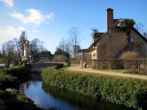 Park of the Palace of Versailles - Queen's hamlet: houses and Marlborough tower