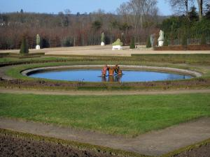 Park of the Palace of Versailles - Lake, lawns, paths and trees