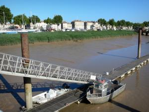 Pauillac - Marina on the Gironde estuary with views of the facades of the town