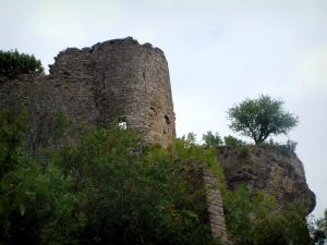 Penne - Trees and remains of the castle (fortress)