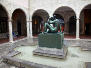 Perpignan - La Méditerranée statue, bronze sculpture by Maillol, in the courtyard of the town hall