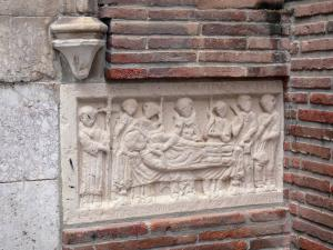 Perpignan - Bas-relief of the Saint-Jean-Baptiste cathedral