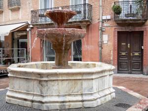 Perpignan - Fountain of the Hospital on the Place Gambetta square