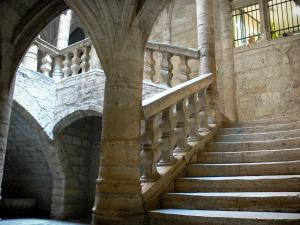 Pézenas - Stair of the Lacoste mansion