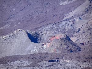 Piton de la Fournaise peak - One of the massive volcanic craters