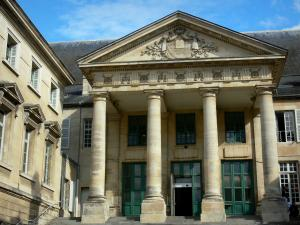 Poitiers - Pediment and columns of the Palais de Justice (law courts)