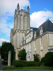 Poitiers - Towers of the Saint-Pierre cathedral and facade of the episcopal palace