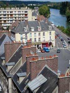 Pontoise - View over the rooftops of the city and River Oise