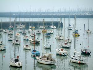 Pornic - Sailboats (boats) in the port