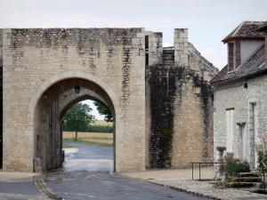 Provins - Porte de Jouy gate and house of the upper town