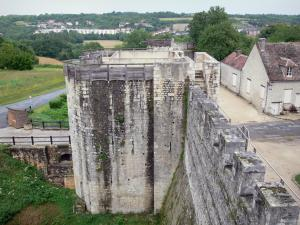 Provins - Porte de Jouy gate and ramparts (fortified walls, medieval fortifications)