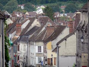Provins - Roofs and facades of houses in the city