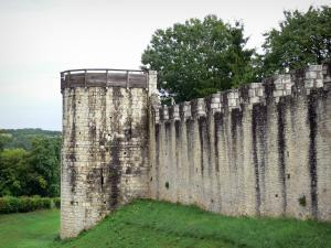 Provins - Fortified walls (medieval fortifications) of the upper town: ramparts and tower