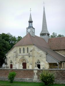Puellemontier - Notre-Dame-en-sa-Nativité church; in the Pays du Der area