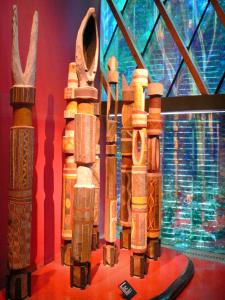 Quai Branly museum - Oceania collection: Funeral posts