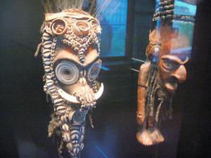 Quai Branly museum - Oceania collection: masks