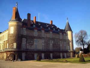 Rambouillet - Castle with towers and lawns of the park
