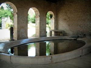Ray-sur-Saône - Washbasin of the washhouse covered by arches (fountain-washhouse)