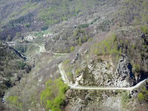 Regional Natural Park of the Ardèche Mountains - Mountain road