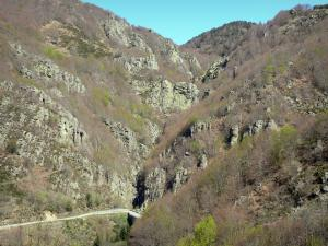 Regional Natural Park of the Ardèche Mountains - Small mountain road