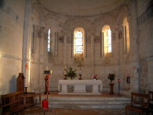 Rioux church - Inside of the Romanesque church in Saintonge