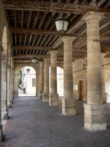 La Roche-Guyon - Town Hall: pillars of the old stately hall