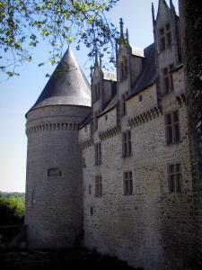 Rochechouart castle - Facade and tower of the castle