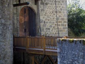 Rochechouart castle - Drawbridge of the castle