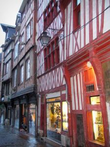 Rouen - Timber-framed houses and shops