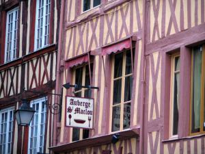 Rouen - Facades of timber-framed houses