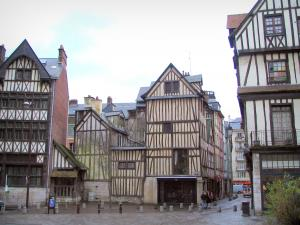 Rouen - Half-timbered houses