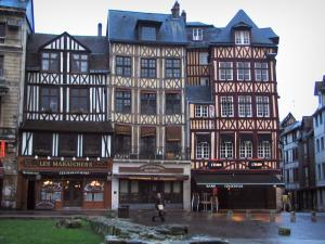 Rouen - Half-timbered houses of the Vieux-Marché square