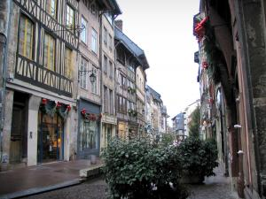 Rouen - Street lined with half-timbered houses
