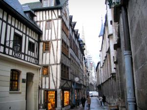 Rouen - Timber-framed houses of the Saint-Romain street