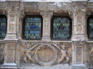 Rouen - carved facade of the Finance office (Renaissance building)