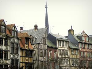 Rouen - Line of half-timbered houses