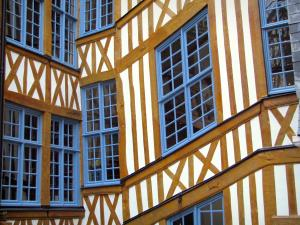 Rouen - Facade of a timber-framed house