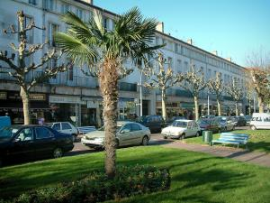 Royan - Aristide-Briand boulevard with its buildings, its shops, its trees and its lawns