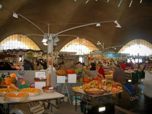 Royan - Stands of the central market