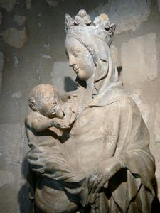Royaumont abbey - Statue of the Virgin and Child (Virgin of Royaumont)