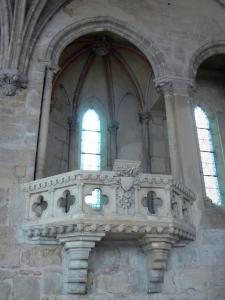 Royaumont abbey - Reader pulpit in the former monks' refectory