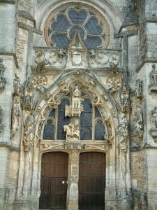 Rumilly-lès-Vaudes - carved portal of the Saint-Martin church