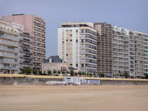 Les Sables-d'Olonne - Sandy beach, houses and buildings of the seaside resort