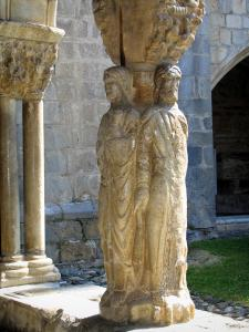 Saint-Bertrand-de-Comminges - Cloister of the Sainte-Marie cathedral: pillar of the four evangelists