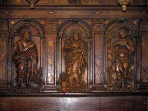 Saint-Bertrand-de-Comminges - Inside of the Sainte-Marie cathedral: panel of the rood screen